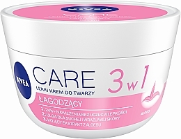 Parfüm, Parfüméria, kozmetikum Hidratáló krém száraz bőrre - Nivea Care Light Soothing Cream