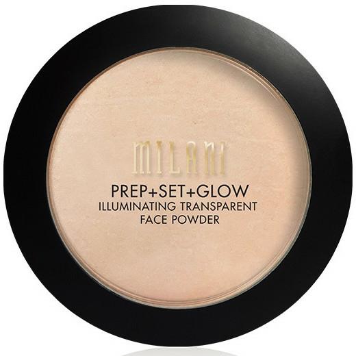 Csillámló púder és primer 3 az 1-ben - Milani Prep + Set + Glow Illuminating Transparent Powder