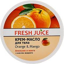 """Parfüm, Parfüméria, kozmetikum Krém-vaj testre amaránt olajjal """"Narancs és mangó"""" - Fresh Juice Orange & Mango"""