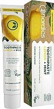 Parfüm, Parfüméria, kozmetikum Fehérítő fogkrém citrommal és mentával - Nordics Organic & Whitening Toothpaste Lemon + Mint