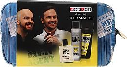 Parfüm, Parfüméria, kozmetikum Szett - Dermacol Men Agent Total Freedom (sh/gel/250ml + after/shave/lotion/100ml + deo/spray/150ml)