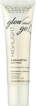 Parfüm, Parfüméria, kozmetikum Highlighter - Eveline Cosmetics Highlight Glow And Go
