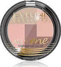 Parfüm, Parfüméria, kozmetikum Highlighter - Eveline Cosmetics All In One Highlighter Blush