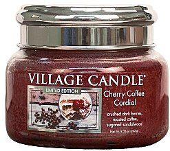 Parfüm, Parfüméria, kozmetikum Aroma gyertya - Village Candle Cherry Coffee Cordial Glass Jar