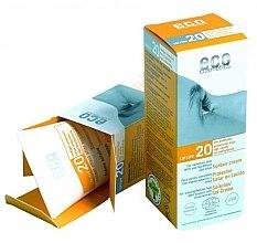 Parfüm, Parfüméria, kozmetikum Napvédő krém SPF 20 gránátalma és homoktövis kivonattal - Eco Cosmetics Suntan Cream SPF 20