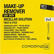 Parfüm, Parfüméria, kozmetikum Sminkeltávolító törlőkendő - Comodynes Make Up Remover Micellar Solution Easy Cleanser