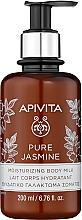 """Parfüm, Parfüméria, kozmetikum Hidratáló testtej """"Tiszta jázmin"""" - Apivita Pure Jasmine Moisturizing Body Milk"""