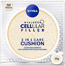 Parfüm, Parfüméria, kozmetikum Cushion alapozó - Nivea Hyaluron Cellular Filler 3in1 Care Cushion SPF 15