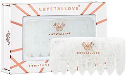 Parfüm, Parfüméria, kozmetikum Áttettsző kvarc fésű - Crystallove Clear Quartz Comb