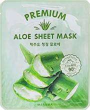 Parfüm, Parfüméria, kozmetikum Nyugtató arcmaszk aloe kivonattal - Missha Premium Aloe Sheet Mask