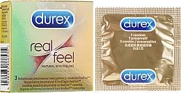 """Parfüm, Parfüméria, kozmetikum Óvszer """" Valódi érzés""""_ 3 db - Durex Real Feel"""