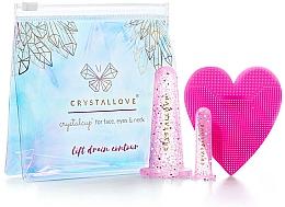 Parfüm, Parfüméria, kozmetikum Szilikon kupacterápiás készlet arcra - Crystallove Crystalcup For Face, Eyes & Neck Rose Set