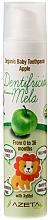 "Parfüm, Parfüméria, kozmetikum Gyermek fogkrém ""Alma"" - Azeta Bio Organic Baby Toothpaste Apple"