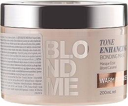 Parfüm, Parfüméria, kozmetikum Erősítő maszk a szőke meleg árnyalataiért - Schwarzkopf Professional Blondme Tone Enhancing Bonding Mask Warm Blondes