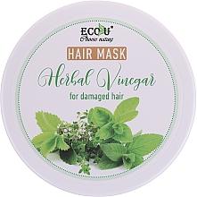 Parfüm, Parfüméria, kozmetikum Maszk sérült hajra - Eco U Hair Mask Herbal Vinegar For Damaged Hair