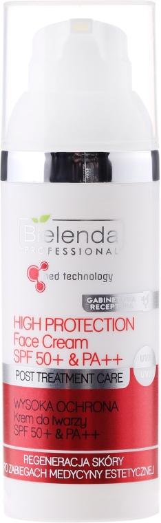 Arckrém SPF 50+ & PA++ - Bielenda Professional Post Treatment Care High Protection Face Cream SPF 50+ & PA++