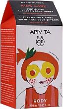 Parfüm, Parfüméria, kozmetikum Gyerek sampon és kondicionáló gránátalmával és mézel - Apivita Babies & Kids Natural Baby Kids Shampoo & Conditioner With Honey & Pomegranate