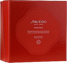 Parfüm, Parfüméria, kozmetikum Készlet - Shiseido Benefiance Wrinkle Smoothing Cream Enriched Holiday Kit (f/cr/50ml + foam/15ml + treat/30ml + conc/10ml + eye/cr/2ml)