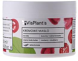 Parfüm, Parfüméria, kozmetikum Krémes testvaj - Vis Plantis Herbal Vital Care Creamy Body Butter Cranberry and Cloudberry