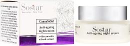 Parfüm, Parfüméria, kozmetikum Anti age éjszakai krém kender kivonattal - Sostar Cannabidiol Anti Ageing Night Cream With Cannabis Extract