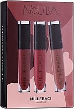 Parfüm, Parfüméria, kozmetikum Szett - NoUBA Millebaci Travel Set №2 (lipstick/3x6ml)