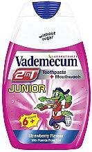 Parfüm, Parfüméria, kozmetikum Gyerek fogkrém 2 az 1-ben eper ízben - Vademecum Junior 2in1 Toothpaste + Mouthwash