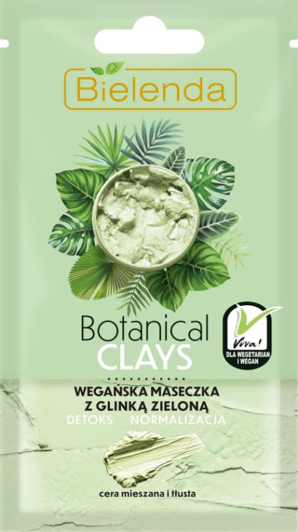 Maszk kombinált és zsíros bőrre zöld agyaggal - Bielenda Botanical Clays