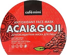 Parfüm, Parfüméria, kozmetikum Antioxidáns anyagmaszk arcra - Cafe Mimi Antioxidant Fase Mask Acai & Goji