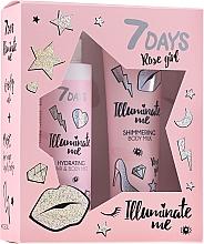 Parfüm, Parfüméria, kozmetikum Szett - 7 Days Illuminate Me Rose Girl (b/milk/150ml + mist/180ml)