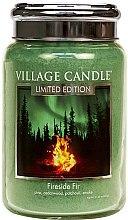 Parfüm, Parfüméria, kozmetikum Aroma gyertya - Village Candle Fireside Fir Glass Jar