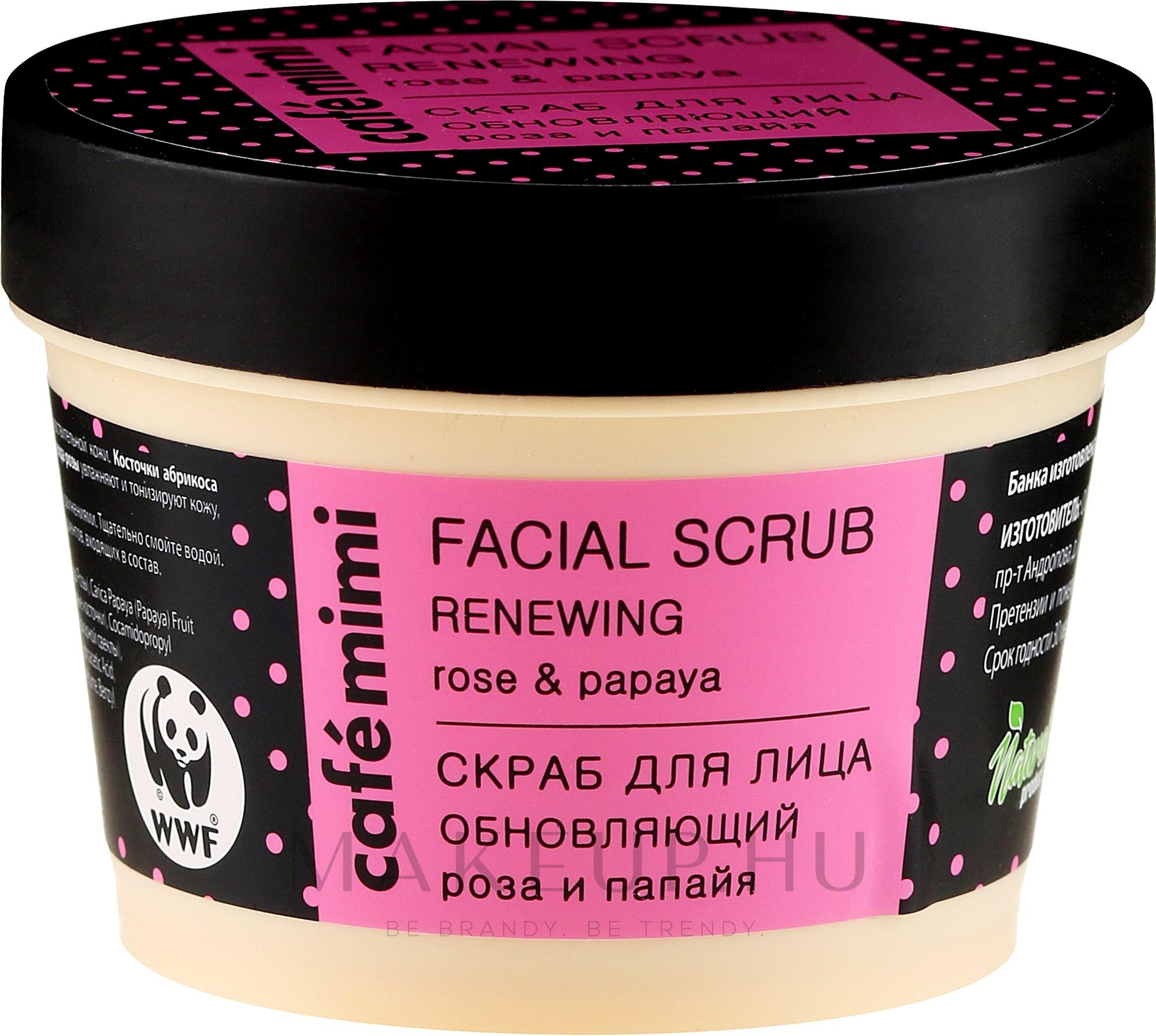 """Arcradír """"Bőrújító"""" - Cafe Mimi Facial Scrub Renewing — fotó 110 ml"""