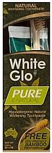 """Parfüm, Parfüméria, kozmetikum Szett """"Természetes tisztítás"""" bambusz fogkefével - White Glo Pure & Natural (t/paste/85ml + t/brush/1)"""