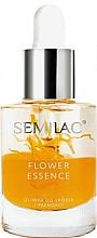 Parfüm, Parfüméria, kozmetikum Védőolaj körömre és kutikulára barackmag olajjal - Semilac Flower Essence Orange Strength