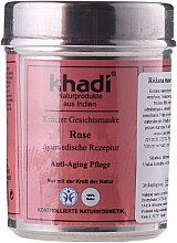 "Parfüm, Parfüméria, kozmetikum Növényi arcmaszk ""Rose"" - Khadi"