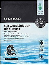 Parfüm, Parfüméria, kozmetikum Fekete szövetmaszk algákkal - Mizon Seaweed Solution Black Mask
