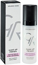 Parfüm, Parfüméria, kozmetikum Primer arcra - Golden Rose Make-Up Primer Mattifying & Pore Minimising