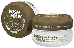 Parfüm, Parfüméria, kozmetikum Stilizáló hajwax-gél - Nishman Hair Styling Gel Wax B7 Gold One