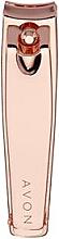 Parfüm, Parfüméria, kozmetikum Kutikula eltávolító csipesz, rózsaszín arany - Avon Rose Gold Nail Clippers
