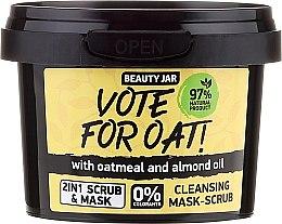 Parfüm, Parfüméria, kozmetikum Arctisztító radírozó maszk - Beauty Jar Vote For Oat! Cleansing Mask-Scrub