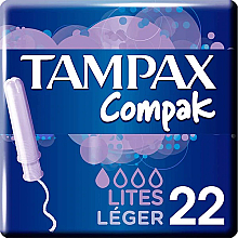 Parfüm, Parfüméria, kozmetikum Tampon applikátorral, 22 db - Tampax Compak Light