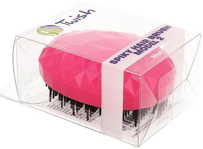 Hajkefe, fukszia - Twish Spiky 2 Hair Brush Hot Pink