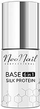 Parfüm, Parfüméria, kozmetikum Bázis gél lakk fedőréteg 6 az 1-ben - NeoNail Professional Base 6in1 Silk Protein