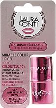 Parfüm, Parfüméria, kozmetikum Hidratáló rózsaszín ajakgél - Laura Conti Miracle Color Lip Gel