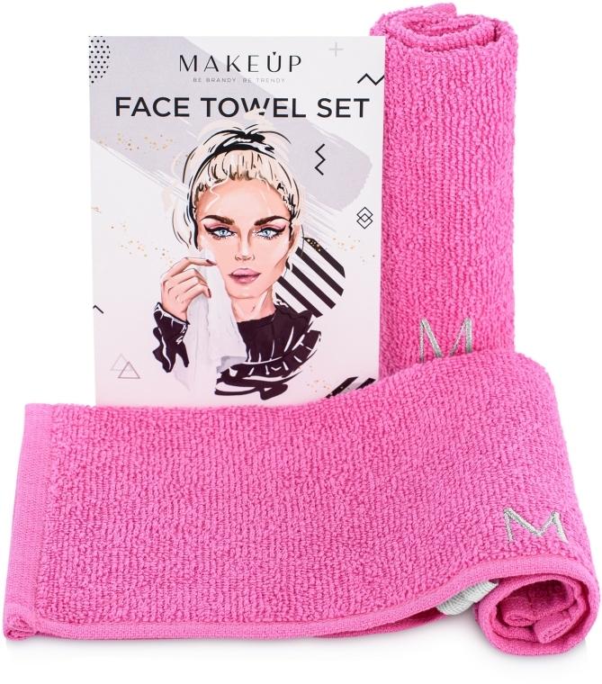 """Utazó törölköző szett """"MakeTravel"""", rózsaszín - Makeup Face Towel Set"""