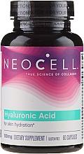 """Parfüm, Parfüméria, kozmetikum Étrendkiegészítő hialuronsav """"Természetes hidratáló"""", 100 mg, 60 kapszula - NeoCell Hyaluronic Acid"""