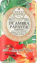 """Parfüm, Parfüméria, kozmetikum Szappan """"Borostyán és piros pipacs"""" - Nesti Dante"""