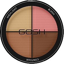 Parfüm, Parfüméria, kozmetikum Bőrvilágosító paletta - Gosh Contour Strobe Kit