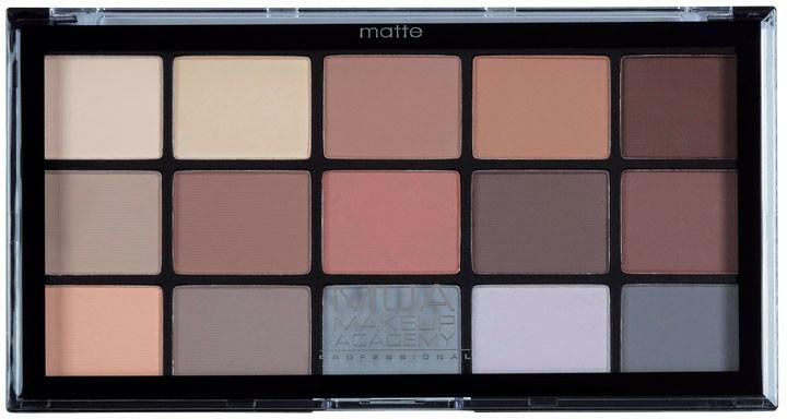 Szemhéjfesték paletta - MUA Pro 15 Shade Eyeshadow Palette Matte