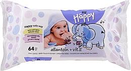 Parfüm, Parfüméria, kozmetikum Nedves törlőkendő E vitaminnal, 64 db. - Bella Baby Happy Vit E & Allantoin