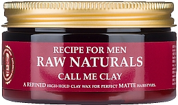 Parfüm, Parfüméria, kozmetikum Hajwax - Recipe For Men RAW Naturals Call Me Clay